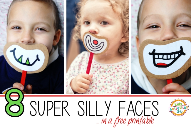 printable of silly faces