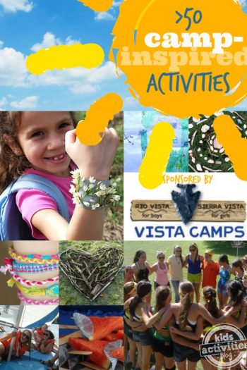 50 Camp-inspired Activities on Kids Activities Blog