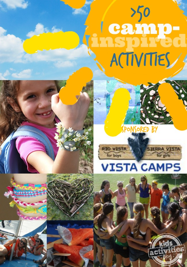 50+ Fun Summer Camp Inspired Activities for Kids