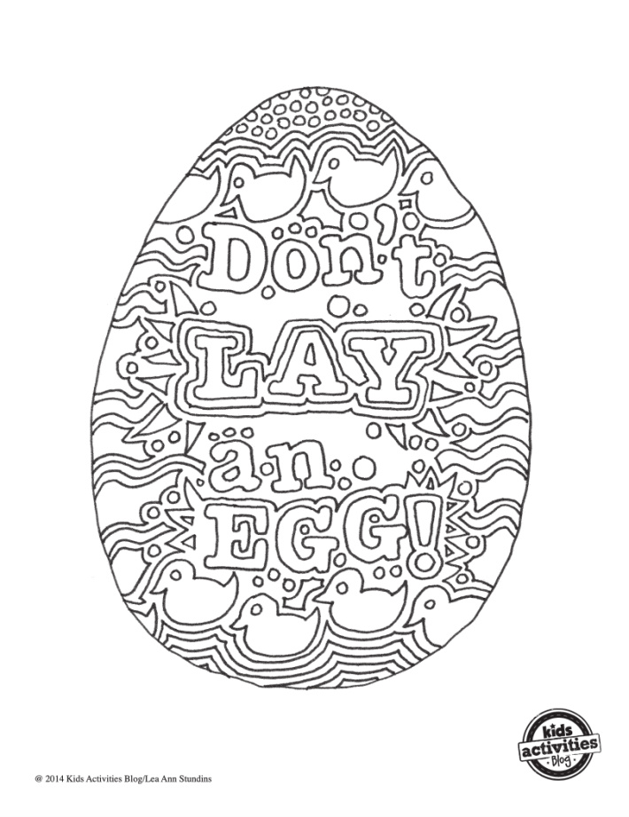 Dont Lay an Egg Coloring Page - Kids Activities Blog