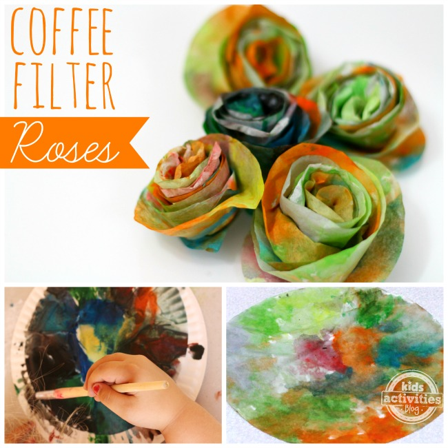 Make Coffee Filter Roses