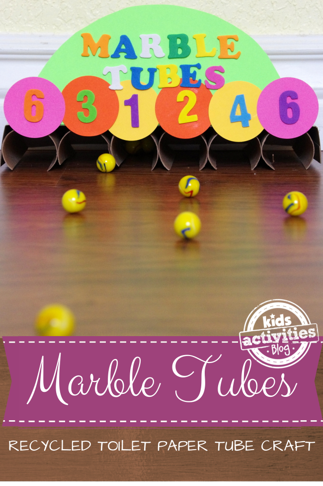Marble Tube 2 toilet paper tube craft