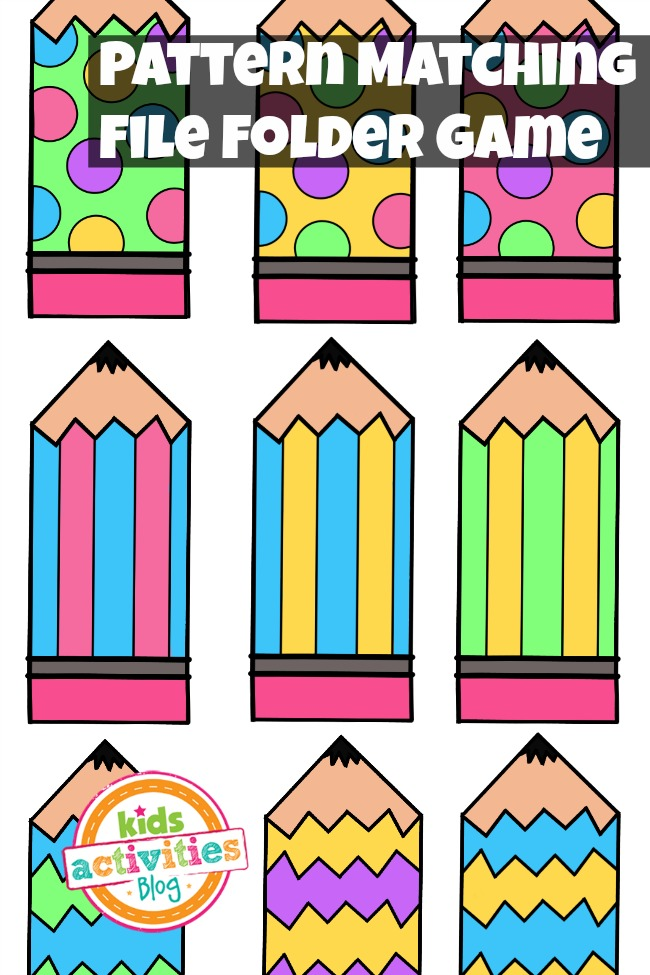 Pattern Matching File Folder Game From The Kids Activities Blog