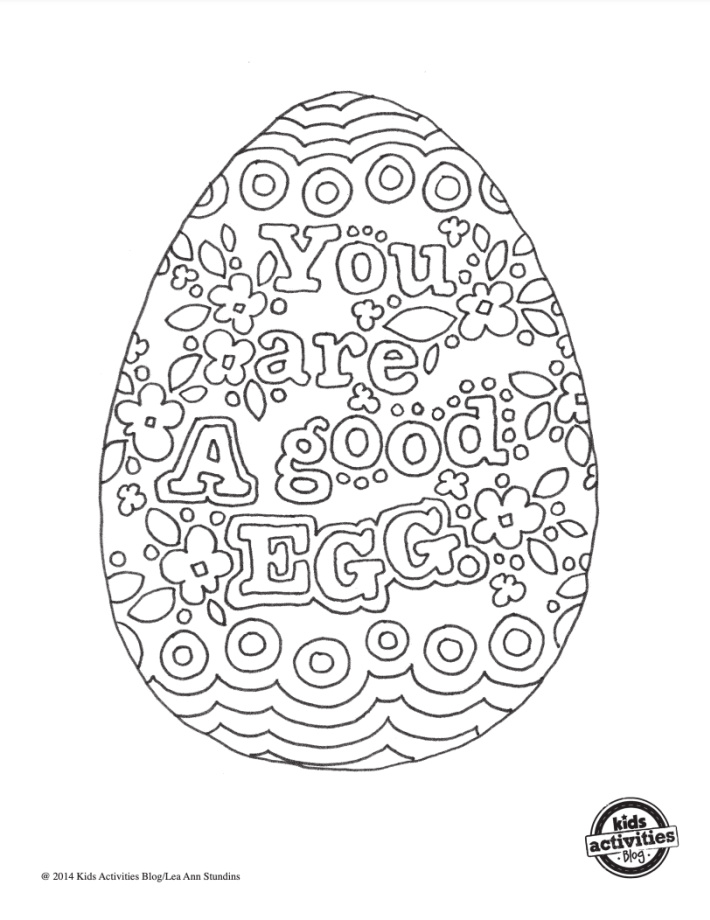 You are a Good Egg Coloring Page - Kids Activities Blog