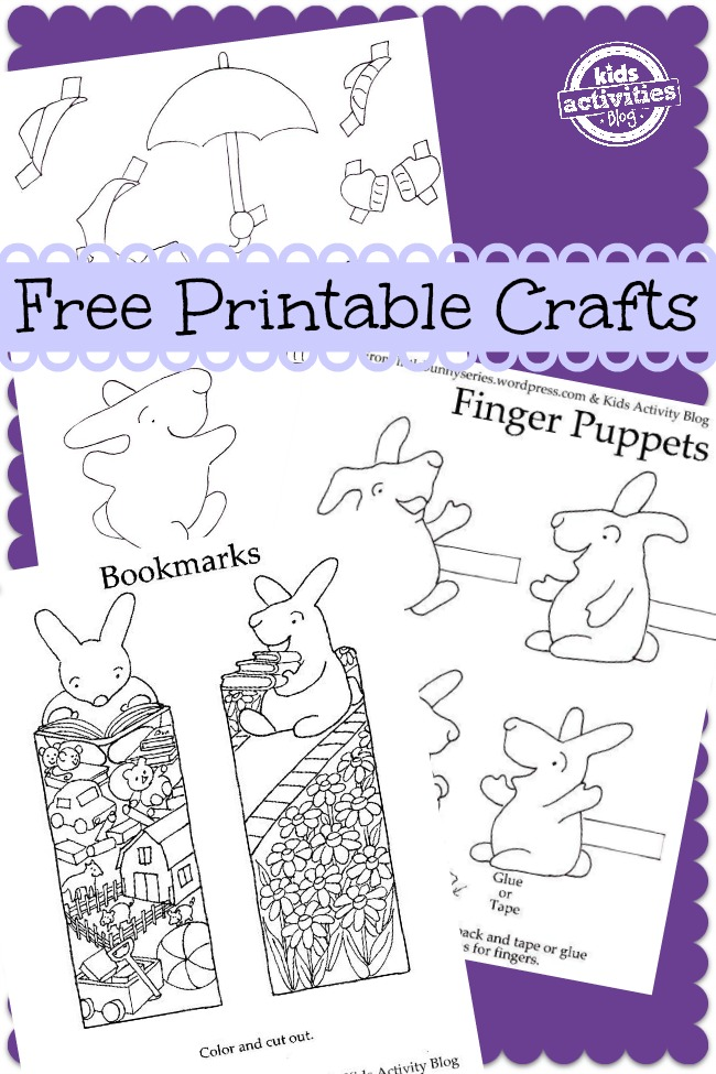 free printable bunny crafts from the little bunny series and kids activities blog