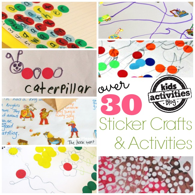 over 30 sticker crafts and activities