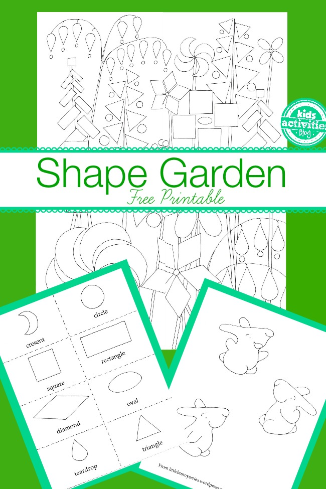 shape garden printable