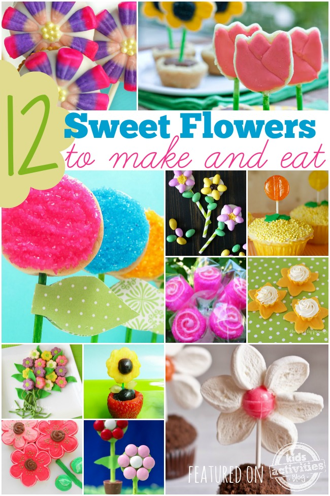 Lovely sweets made to look like flowers.