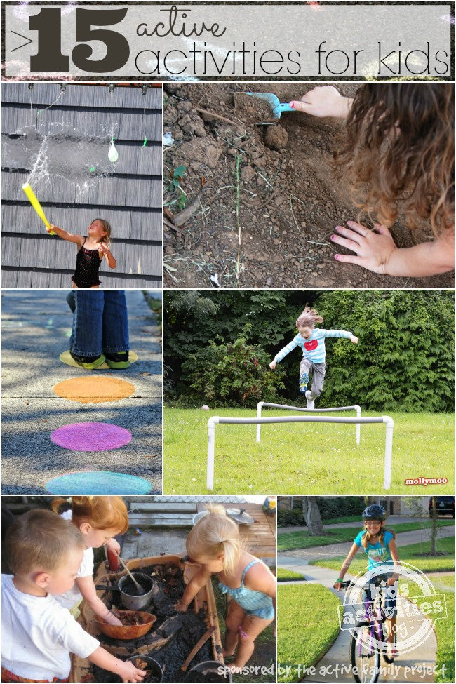 15 active activities for kids sponsored by the active family project