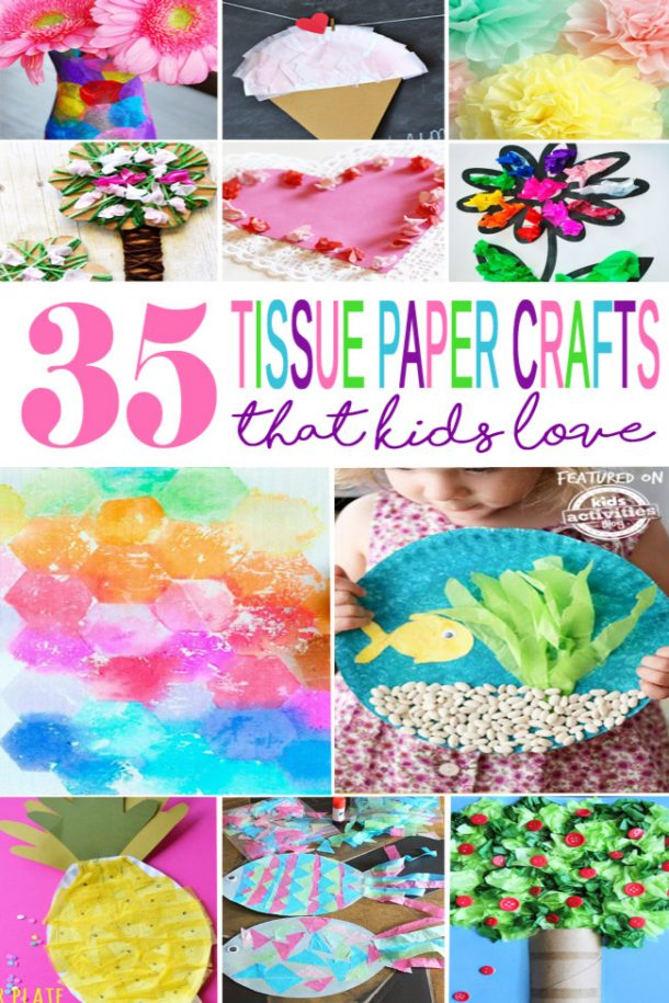 35 tissue paper crafts that kids love
