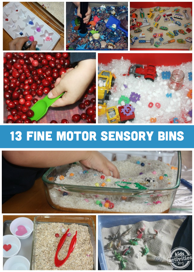 13 Sensory Bins to Develop Fine Motor Skills