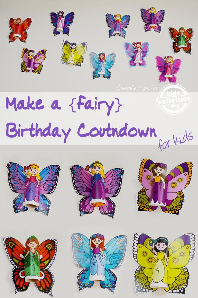 How to Make a Fairy Birthday Countdown