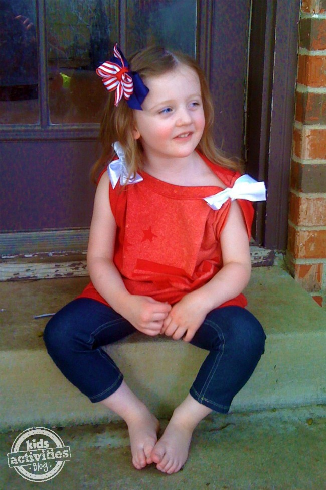 Patriotic DIY t-shirt - Kids Activities Blog