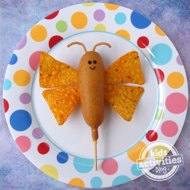 corn-dog-butterfly-on-plate