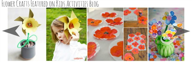 flower crafts featured on kids activities blog
