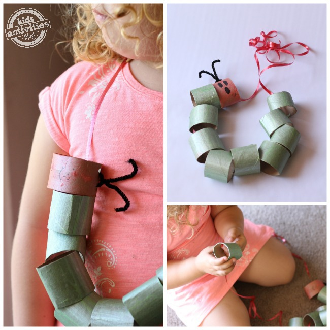 hungry caterpillar toilet paper roll craft