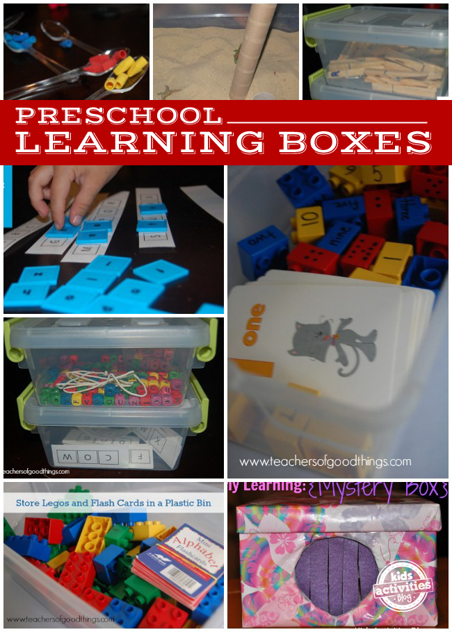 10 Preschool Learning Boxes