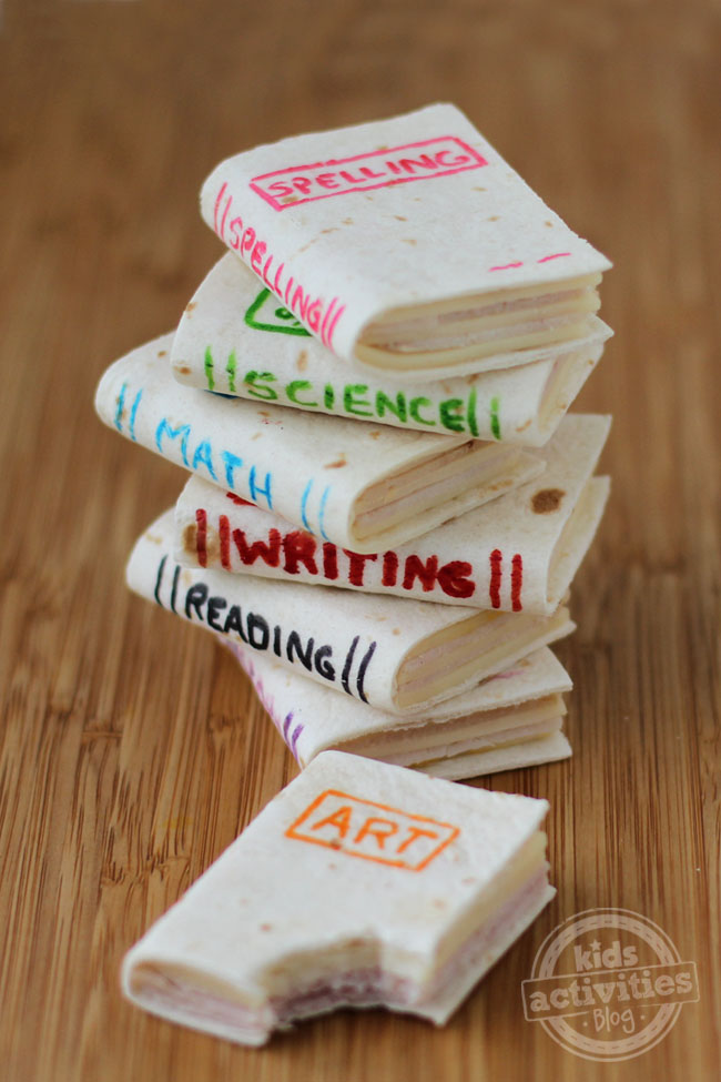 School Book Sandwiches Perfect Back to School Lunch Surprise
