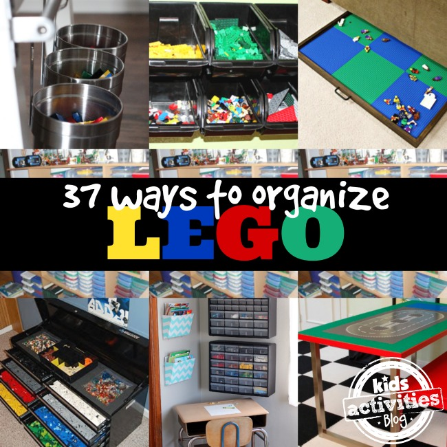 37 Ways to Organize LEGO with bins, cubbies, shelves, and buckets