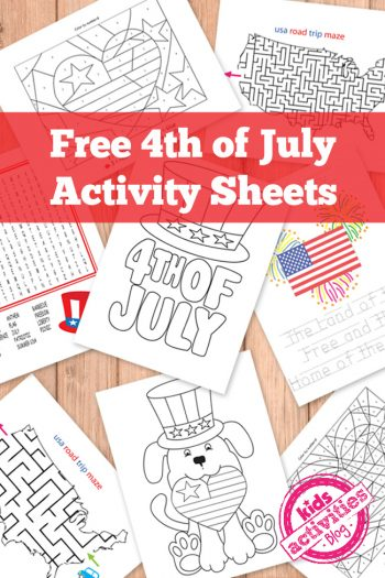 4th of July Activity Sheets