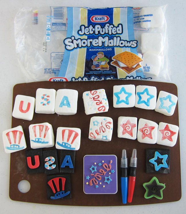 Patriotic Marshmallows for the 4th of July