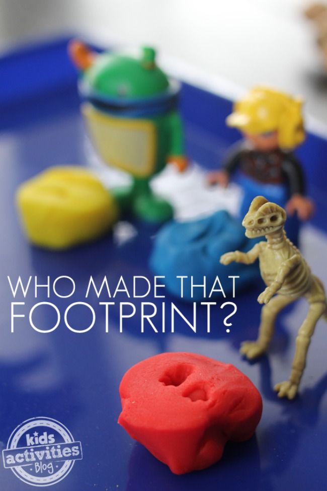 Toddler Game:  Who Made That Footprint?