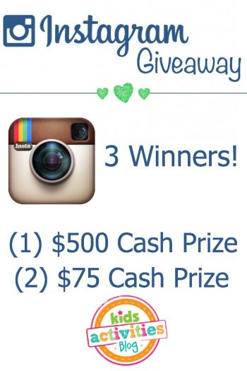 instagram giveaway from the kids activities blog