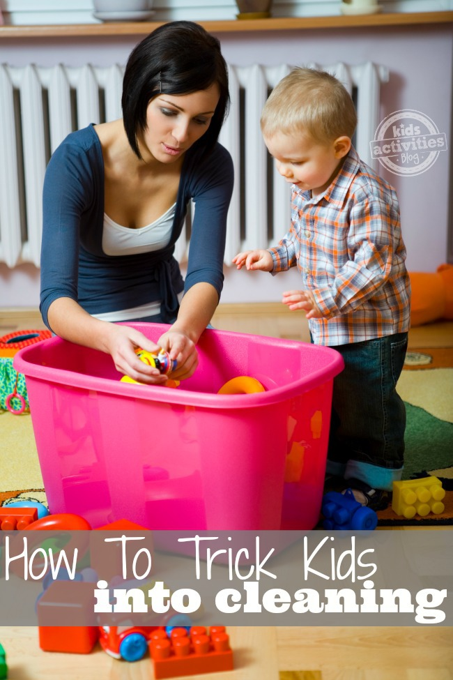 How To Trick Kids Into Cleaning