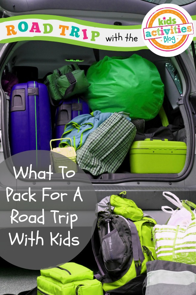 what to pack for a road trip with kids