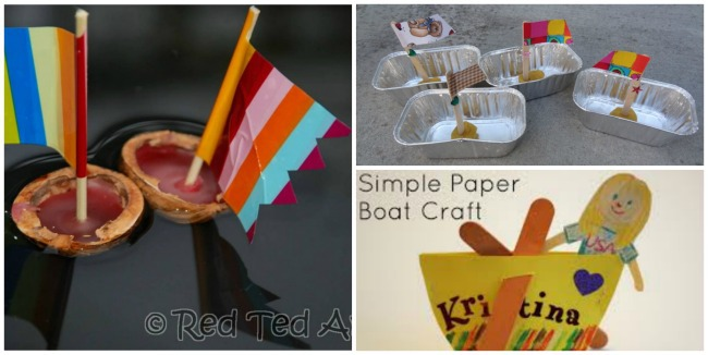 3 homemade boats for kids to make