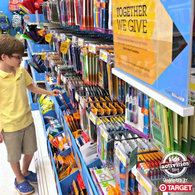 School Supply shopping at Target - Kids Activities Blog