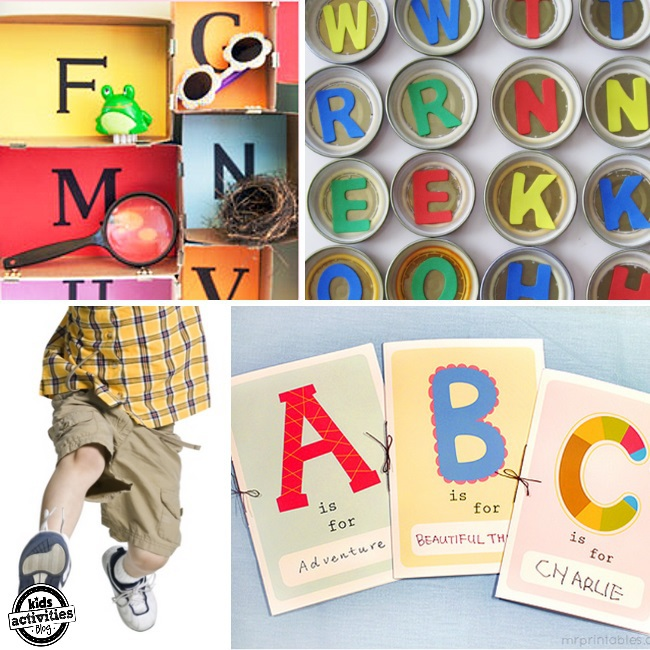 alphabet activities for kids - preschool curriculum abcs - shown are vari