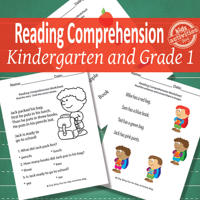 Back to School Reading Comprehension Worksheets