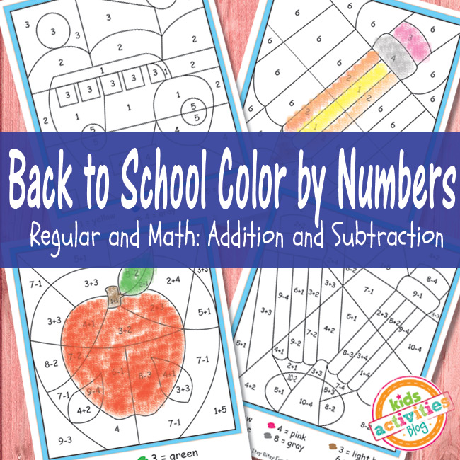 Color by Numbers Free Kids Printable