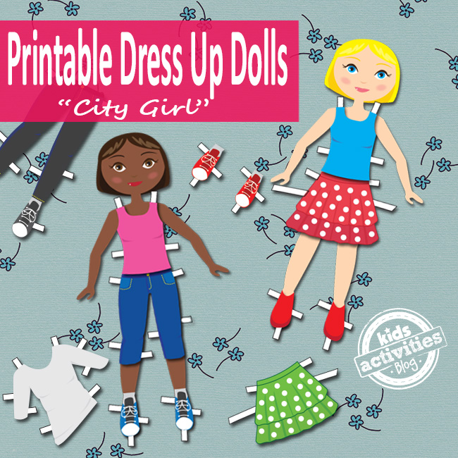Printable Dress Up Dolls