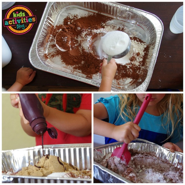 1-edible mud sensory activity for kids
