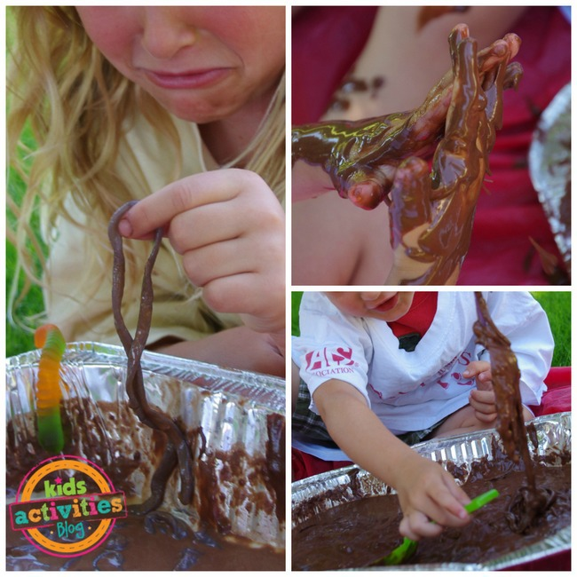 1-edible mud sensory activity kids