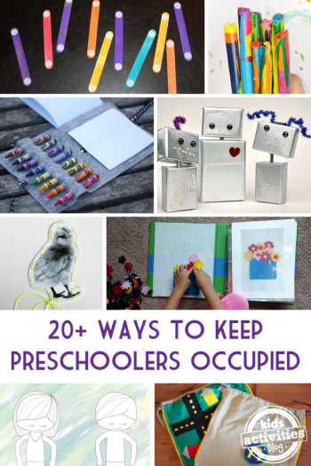 keep preschoolers occupied