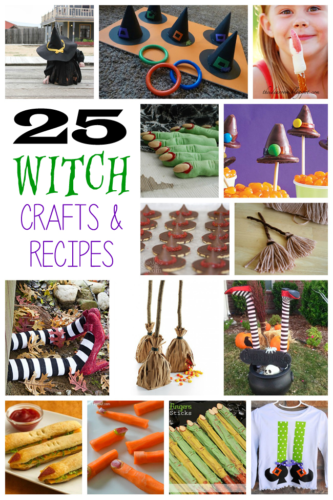 25 Festive Witch Crafts & Recipes for kids to make and play