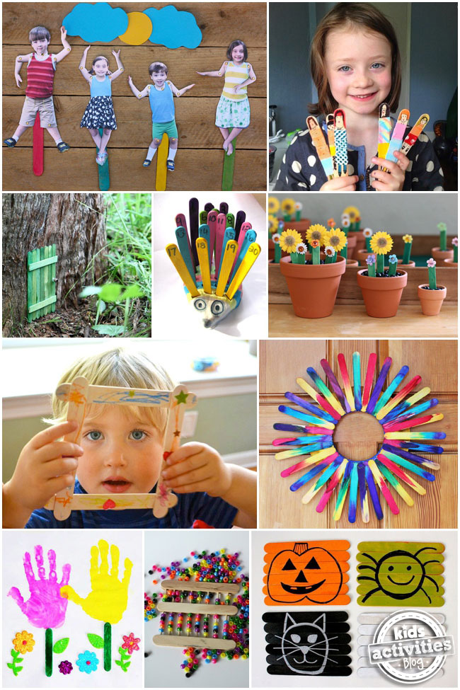 30+ Cute & Clever Popsicle Stick Crafts for Kids