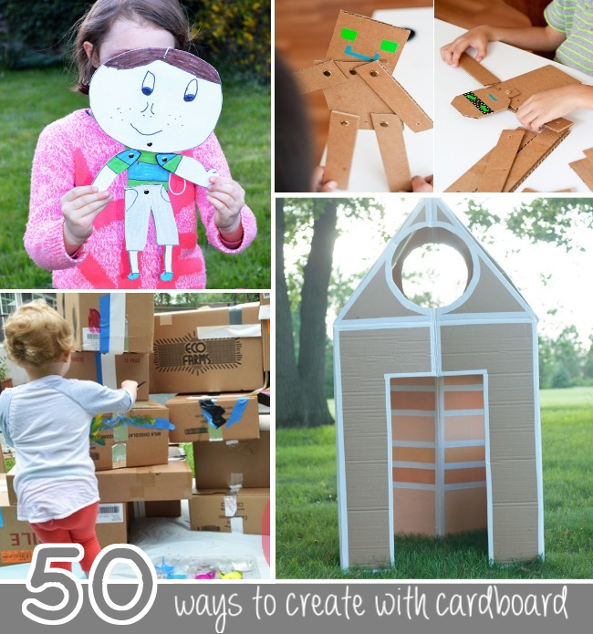 50 ways to create with cardboard
