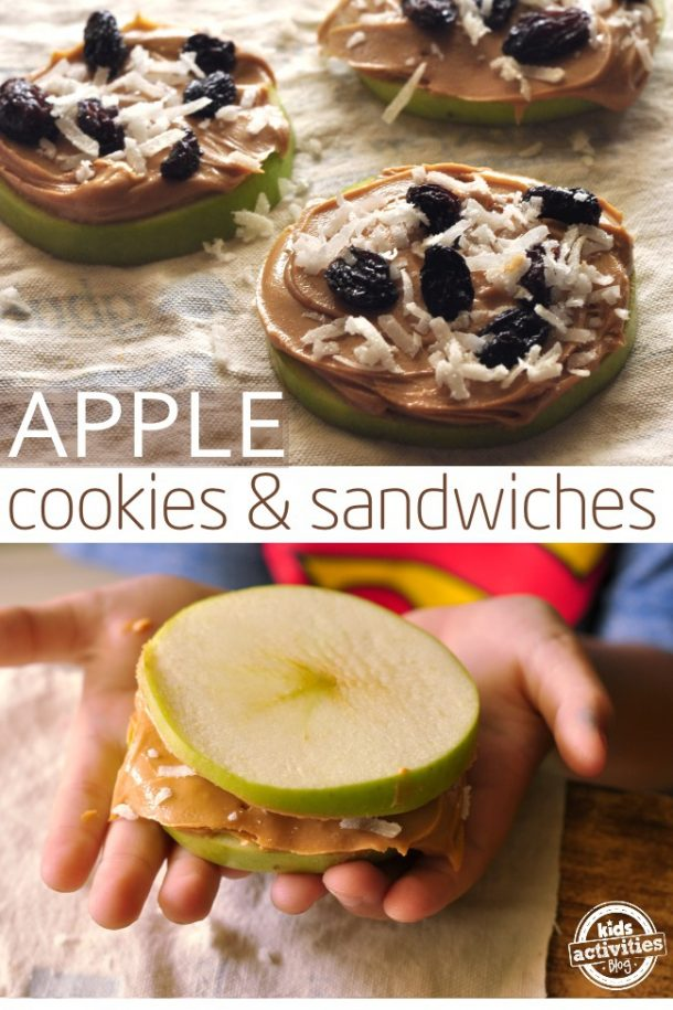 an afterschool snack apple cookies and sandwiches