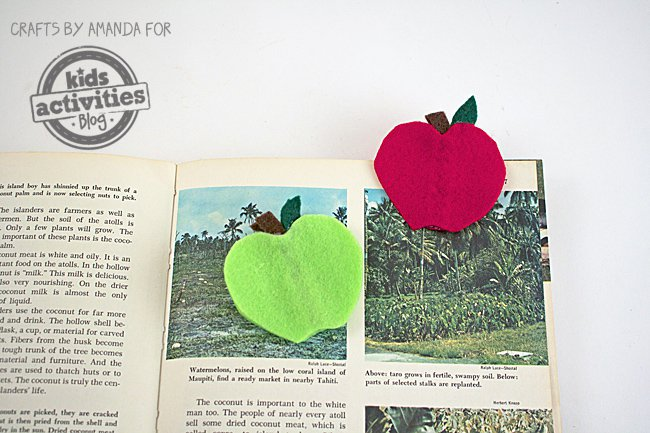 Apple Bookmark Craft