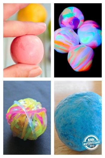 DIY Bouncy Balls will keep your kids entertained for hours. Best yet, many of these can be made with items you already have around the house.