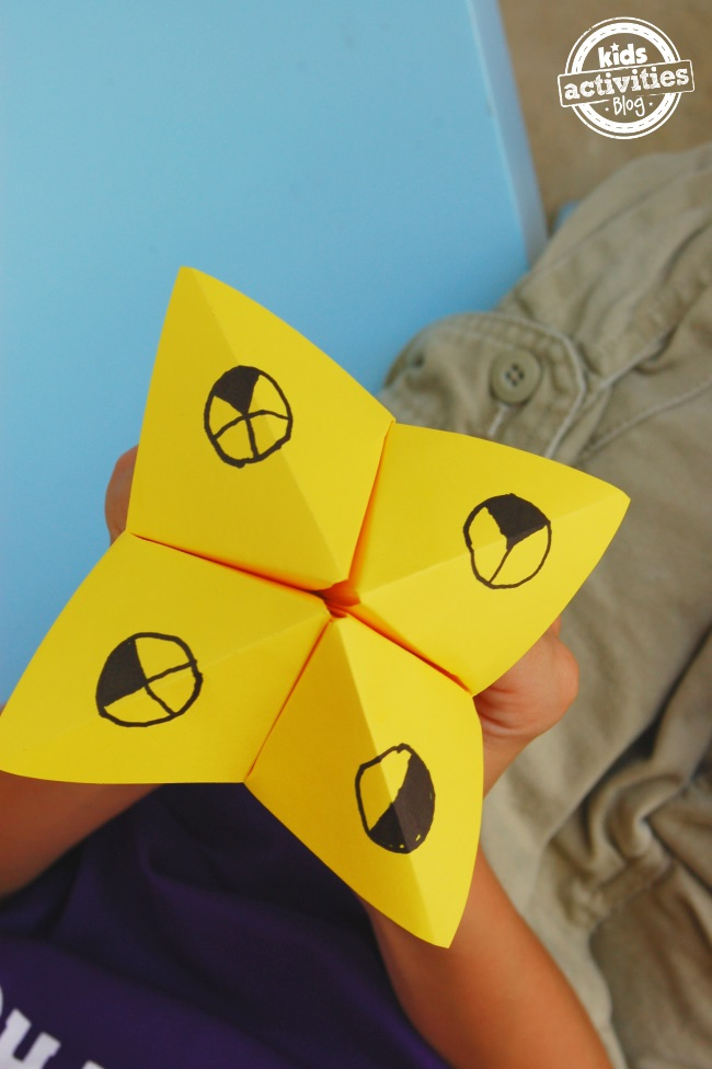 learn your fractions with a paper game