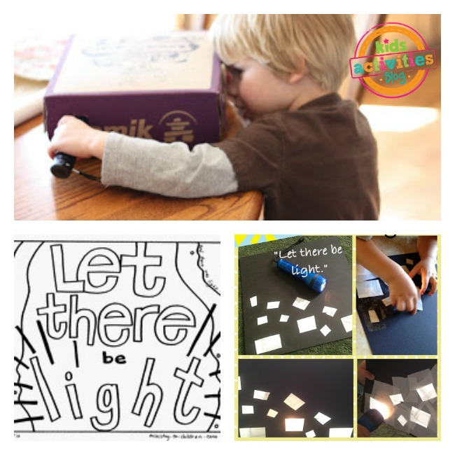 let there be light crafts activities kids creation