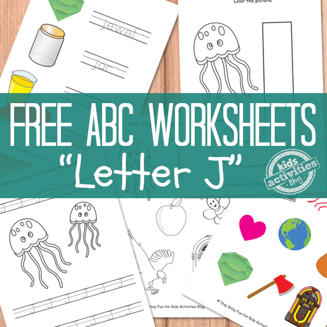 Letter J Worksheets Free Printable