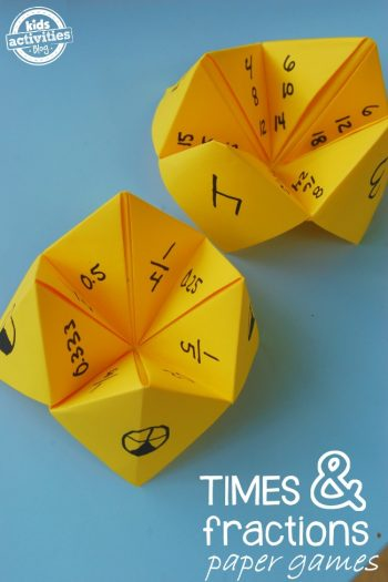 Math Fortune Teller: Fraction Games and Multiplication Games