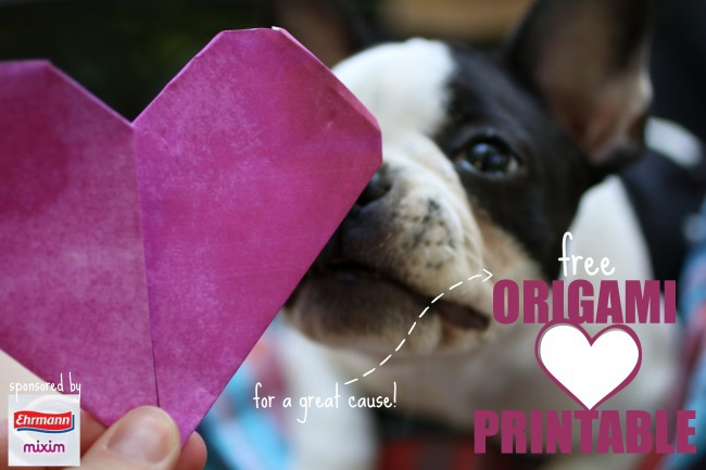 Free Origami Printable for a great cause