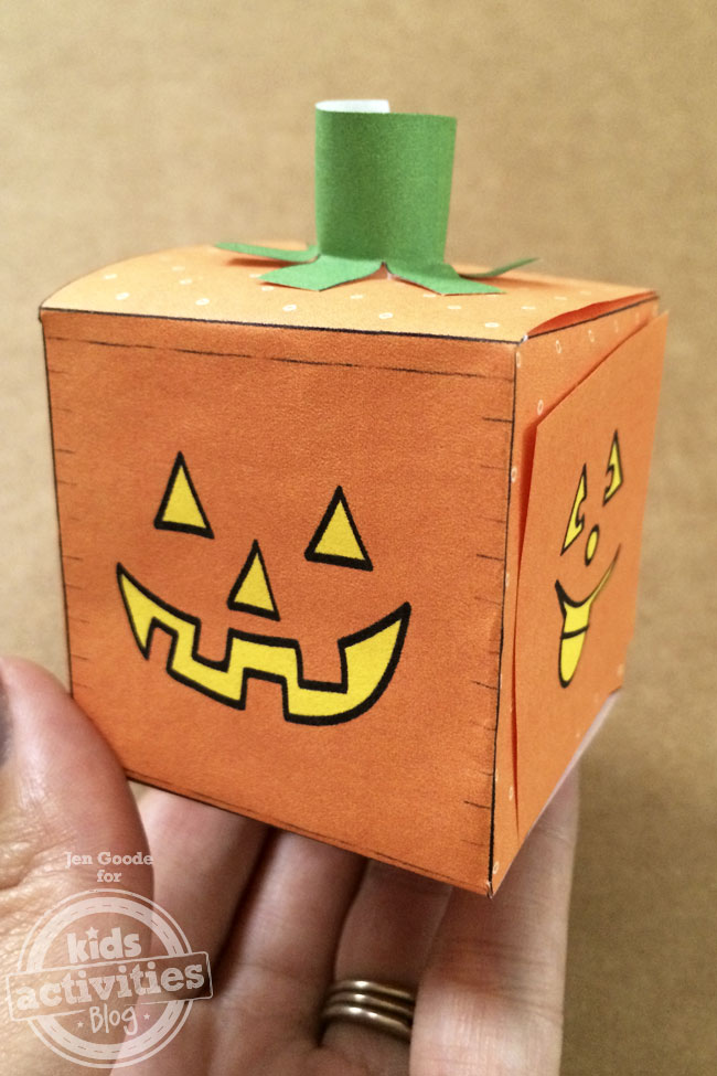 Jack-o-lantern pumpkin block craft